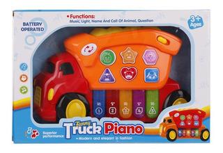 Camion Juguete Piano Musical Con Luces Sonidos Animales