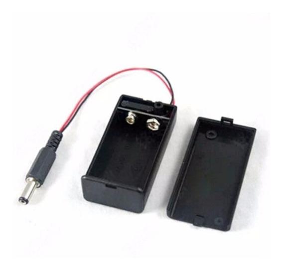 (kit) 10x Caixa Case P/ Bateria 9v On/off + Pino Ac Arduino