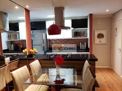 Apartamento Com 2 Dormitórios À Venda, 56 M² Por R$ 399.000,00 - Bonfim - Campinas/sp - Ap7611
