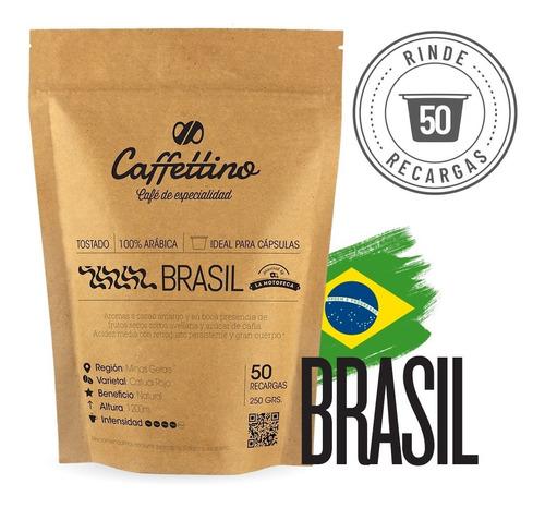 Imagen 1 de 9 de Café Brasil - Molido Ideal Para Cápsula Caffettino Nespresso