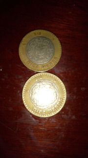 2 Monedas De 10 Pesos Con Grafila Invertida 2007