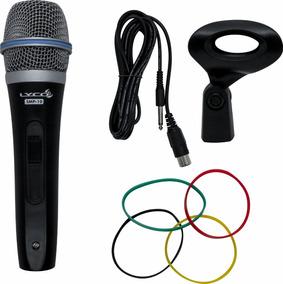 Microfone C/ Fio De Mão Smp-10 - Lyco Profissional C/ Cabo