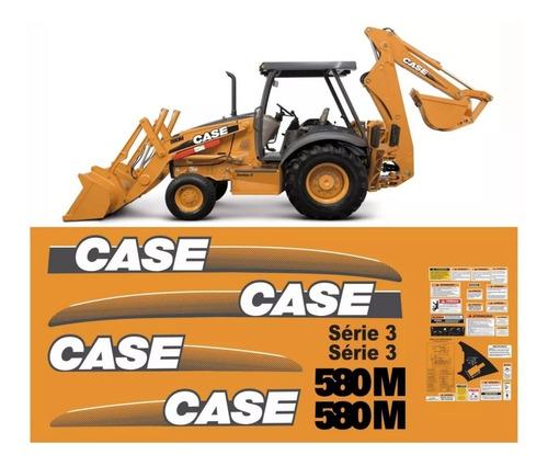 Kit Adesivo Retroescavadeira Case 580m Série 3 + Etiqueta Mk