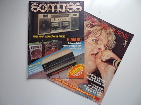 Revista Somtrês - N 90 - Junho 1986 (com Poster De Ozzy)
