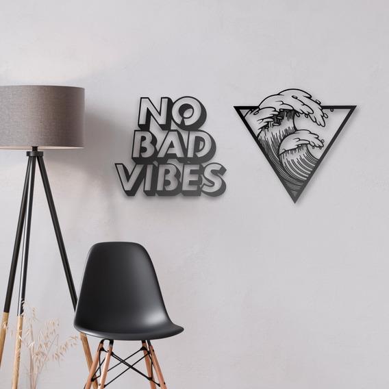 Woodwall Art Combo #3 No Bad Vibes - Ocean