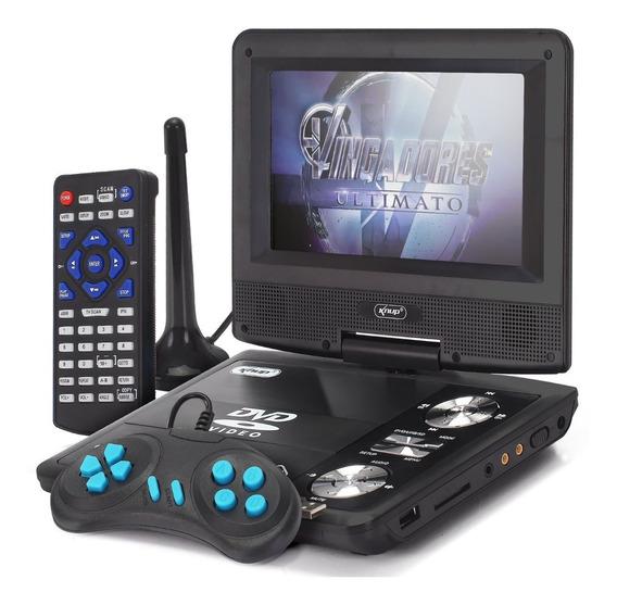 Dvd Portátil Tv Digital Knup Kp Kp-d119 Usb Jogos Infantil