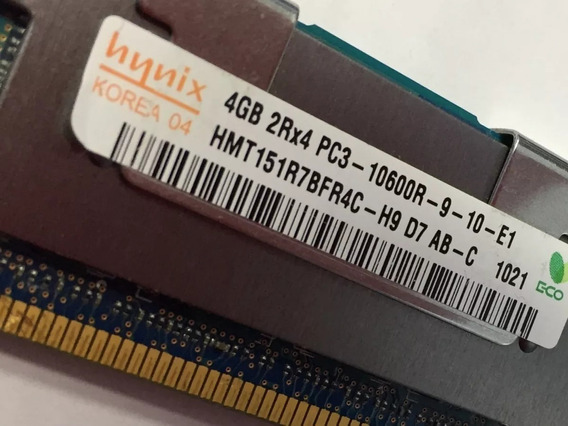 Memoria Ibm 4gb 2rx4 Pc3-10600r Ddr3 1333mhz P/servidor