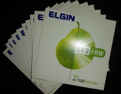 10 Midias Dvd +rw Elgin - Embalagem Envelope