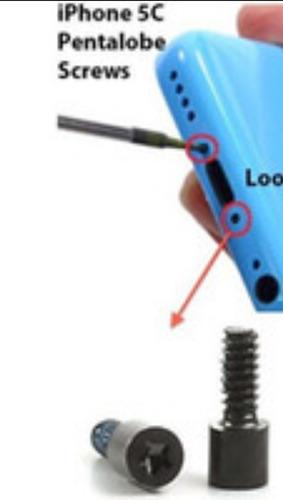 Tornillos iPhone 5c + Destornillador Pentalobe Nuevos Origin