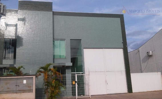 Galpão Para Alugar, 750 M² Por R$ 8.000,00/mês - Américan Park Empresarial Nr - Indaiatuba/sp - Ga0625