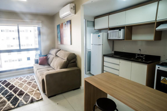 Apartamento No 7º Andar Mobiliado Com 1 Dormitório E 1 Garagem - Id: 892954818 - 254818