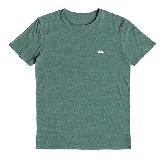 Quiksilver Remera M/c Hombre Small Chest Logo Htr Verde