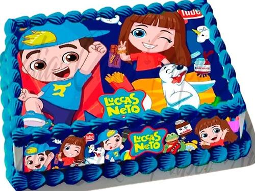 Imagem 1 de 2 de Papel De Arroz E Faixas Para Bolo Comestível Luccas Neto