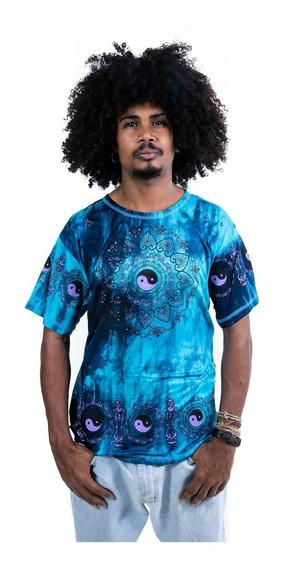 Camiseta Indiana Masculina Tie Dye Viscose