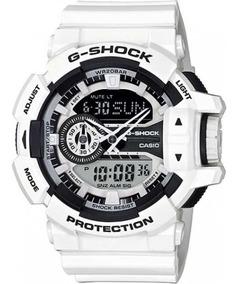Relógio Casio G Shock Ga-400-7adr Original Branco C/ Preto
