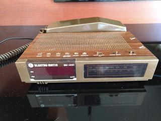 Telefone Retrô Vintage Antigo Gancho Rádio Relógio Electroma