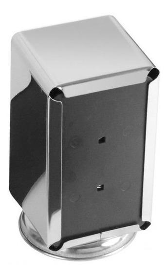 04 Un. Porta Guardanapo Em Aço Inox 430 Para Papel - Tv