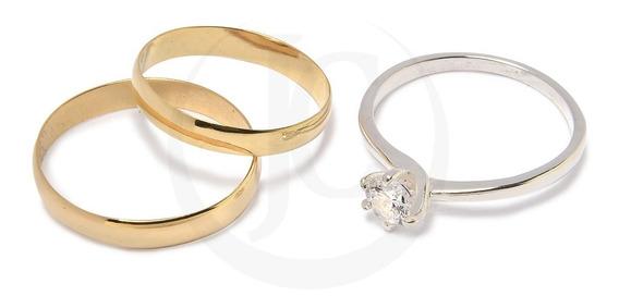 Alianzas Oro 18k 2,5 Grs Par Italiana Casamiento Compromiso