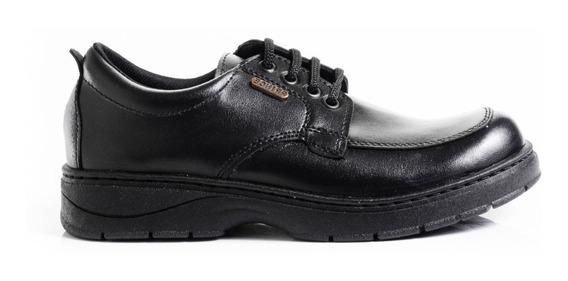 Zapatos Escolares Zapatillas Color Negro Cordones Cocidos