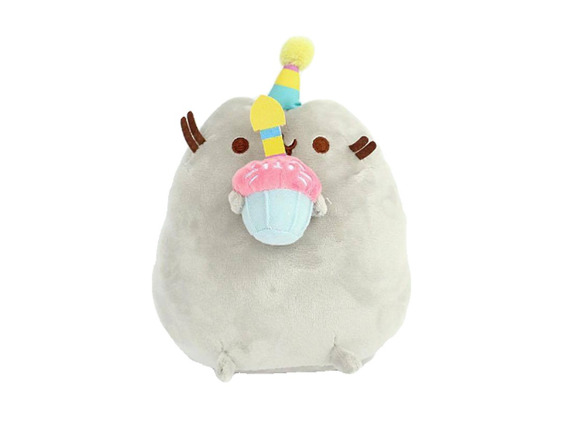 Nuevo Peluche Cumpleaños Gato Facebook Messenger Cupcake Kaw