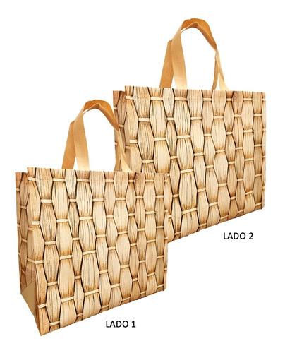 15 Sacolas Reutilizáveis - Ecobag Retornável Estampa Ipanema