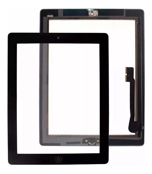 Tela Vidro Touch Apple iPad 4 A1458 A1459 + Home + Adesivo