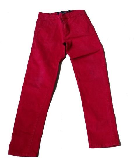 Pantalon De Vestir Rojo Talla 12
