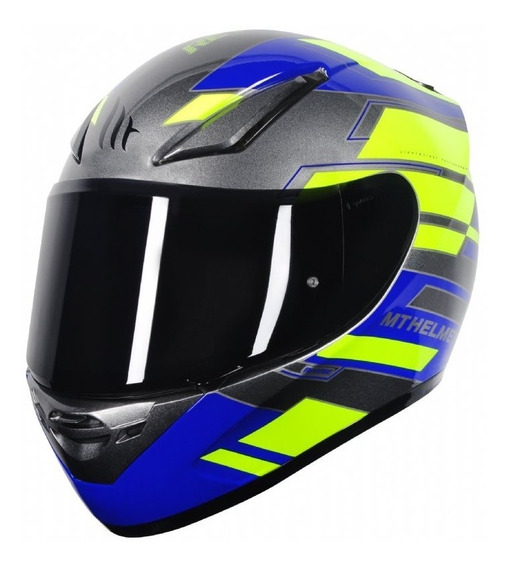 Capacete Mt Revenge Zusa Blue Moto Motociclista Bi Composto