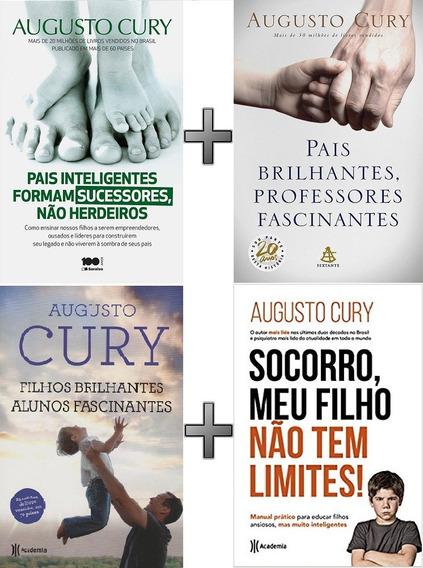 Coleção Augusto Cury 4 Livros: Pais; Filhos; Alunos; Profess