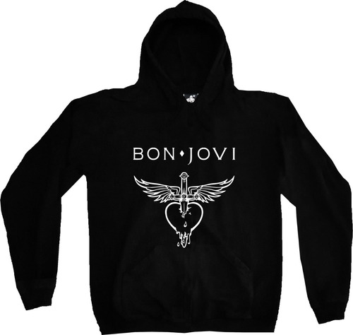 Buzo Hoodie Bon Jovi  Rock Metal Estampado Tv Urbanoz