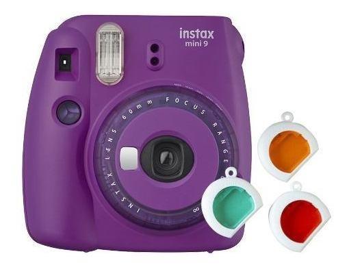 Câmera Instantânea Instax Mini 9 Roxo Açaí + 3 Filtros