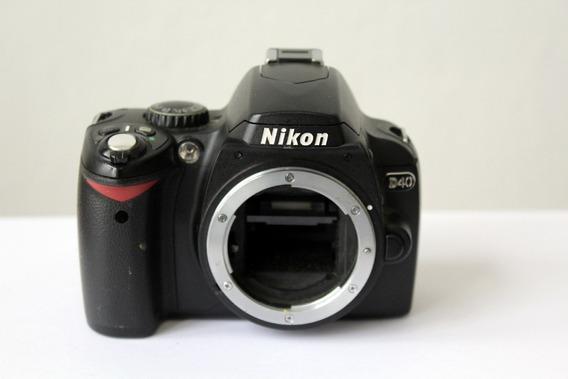 Câmera Digital Dslr Nikon D40 Sucata Para Retirada De Peças