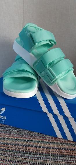 Adilete Sandal N° 37.5 Verde Agua Estado Impecable