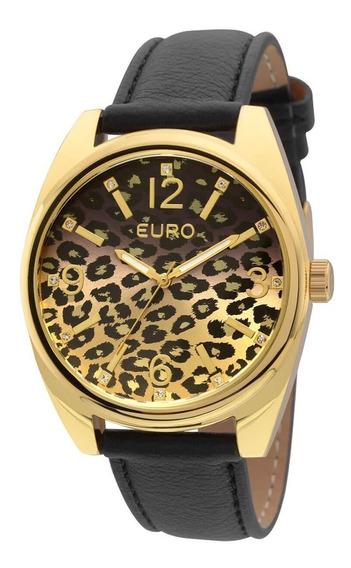Relógio Euro Animal Print Degradê Analógico Eu2035y