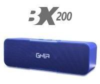 Bocina Bluetooth Bx200a Ghia Azul /8w X2 Rms Aux / Radio Fm/