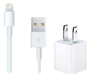 Cargador Apple iPhone Original + Cable 1mt 5s 6 7 8 X Xr