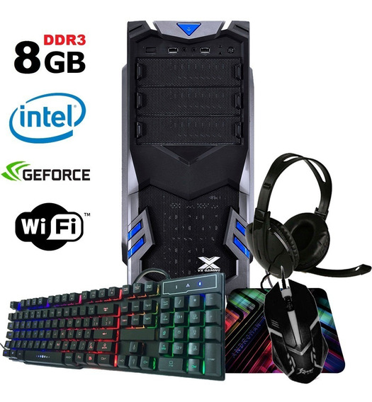 Pc Gamer Barato Intel 8gb Geforce + Jogos E Brindes Promoção