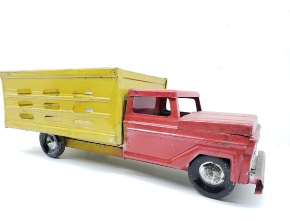 Camioneta De Redilas 1/24 Hecha De Lamina Mexicano Antiguo