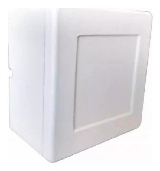 Kit 8 Caixa Sobrepor Cftv Balun Quadrada Branca Tampa Cega