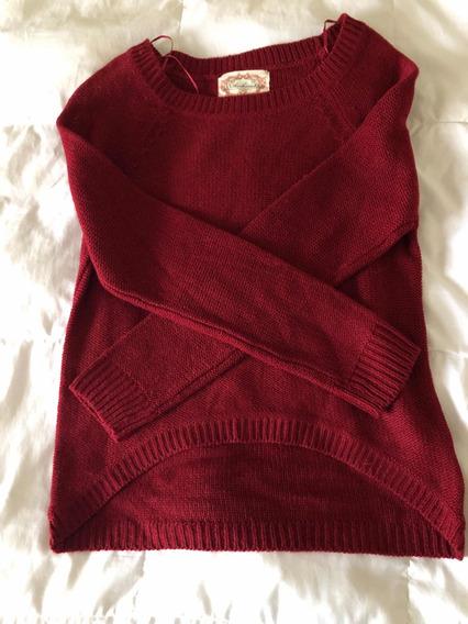 Sweater Color Guinda