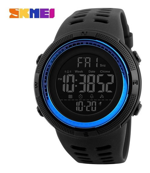 Relógio Masculino Skmei 1251 Sport Azul Prova Água São Paulo