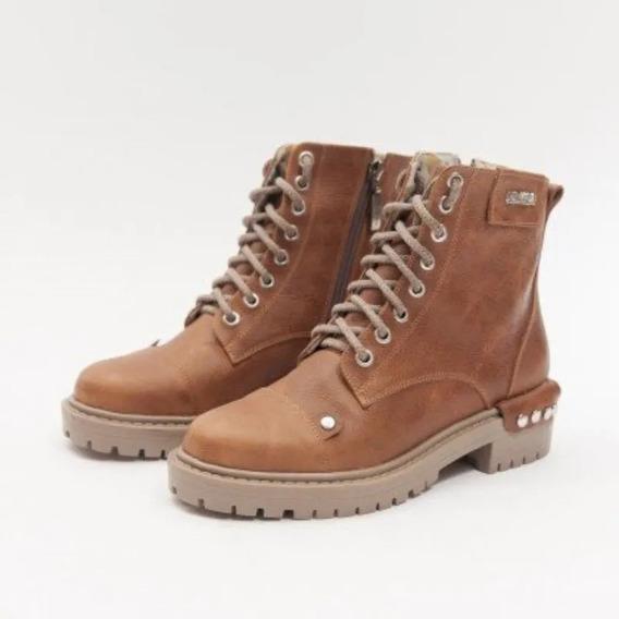 Borcegos De Cuero Mujer Heyas Samy Scarpanno Zapatos