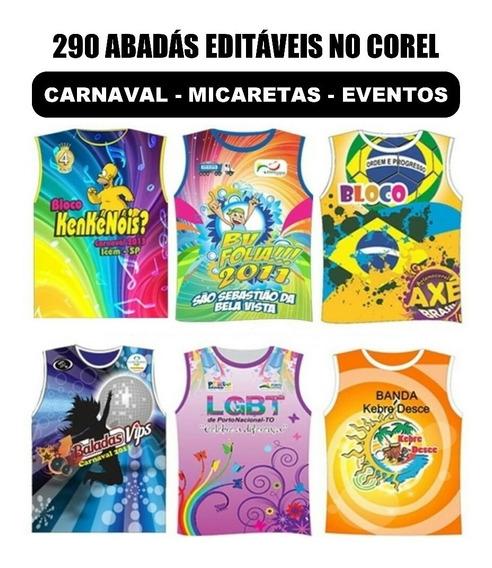 290 Abadas Editáveis Carnaval 2019 Micareta Eventos Vetores