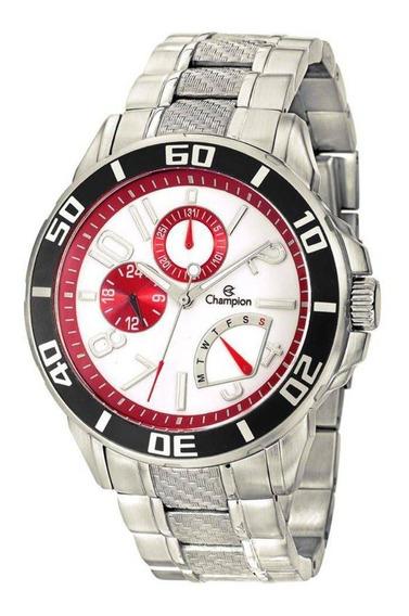 Relógio Masculino Champion Prata Em Aço Ca30909q