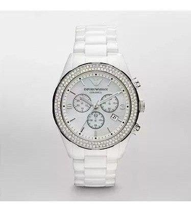 Relógio Empório Armani Ar1456 Cerâmica Branca Feminino Luxo!