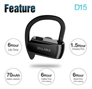 Auricular P/ Apple Deportes Tws Syllable D15 Ipx6 Bt5.0 6hs