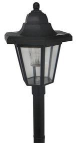 Luminária Poste De Jardim Solar Cúpula Retangular Ec23137
