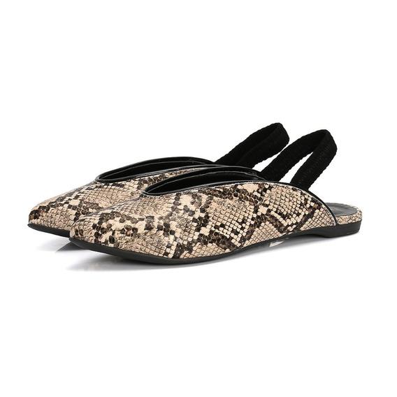 Sapatilha Slingback Cobra Feminina Elegante Confort Casual