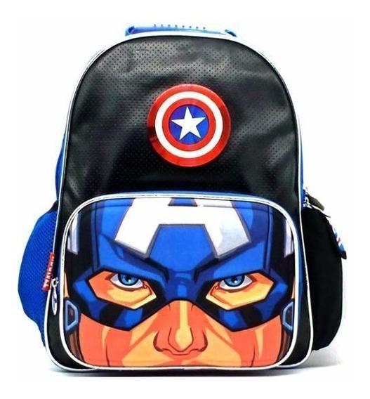 Mochila Escolar Espalda 16 Capitan America Avengers Sp400