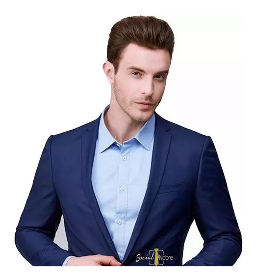 Terno Slim Cores Para Noivos + Colete + Camisa + Gravata
